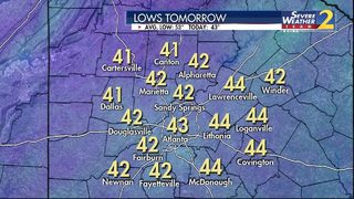 Brrr! Get ready for more cold temperatures tomorrow morning