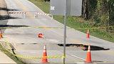 Sinkhole shuts down busy road in Rockdale County