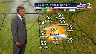 Low to mid 50s for Tuesday morning commute