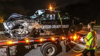 Clayton County officer injured in crash, police say