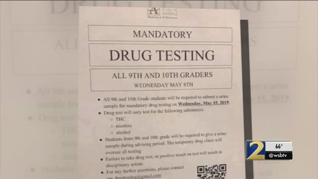 Mandatory Drug Testing At Atlanta Schools Beware Of