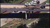 Log truck overturns over I-575 on Monday.