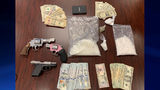 Authorities confiscated drugs, guns and cash during a raid at a Troup County home Tuesday. (Photo: Troup County Sheriff's Office)