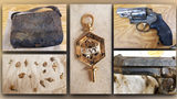 Inside the bag, the couple found two handguns, gold pins and some other jewelry.