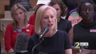 Sen. Kirsten Gillibrand visits Georgia to speak out against