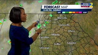 Above average temps, isolated showers possible Sunday