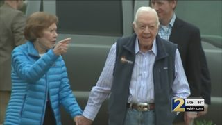 Jimmy Carter recovering well, disappointed not to be in church