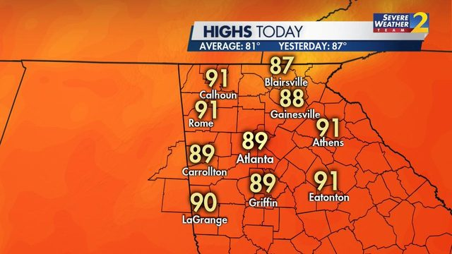 Hot week ahead: We could see temperatures in 90s for first time this year