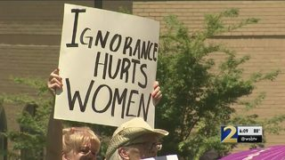 Protesters fill steps of Capitol to rally against heartbeat abortion law