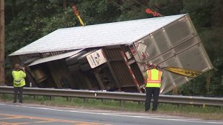 Busy Gwinnett road will be shut down for days following tractor-trailer crash