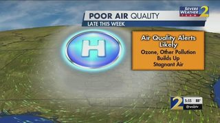 Unhealthy air quality will become major issue this week