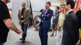 Gov. Kemp tours Pinewood Studios, film academy amid abortion law backlash