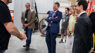 Gov. Kemp tours Pinewood Studios, film academy amid abortion law backlash