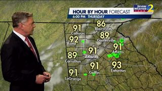 Low 70s, cloudy skies Thursday morning