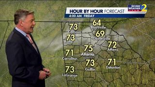 Clear skies, temps in the low 80s Thursday night