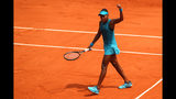 Cori Gauff celebrates during the girls singles final against Caty McNally of The United States during day fourteen of the 2018 French Open at Roland Garros on June 9, 2018 in Paris, France. (Photo by Cameron Spencer/Getty Images)
