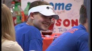 HS football player badly burned receives homecoming celebration