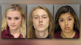 Police arrested three 16-year-olds while two others remain on the run.