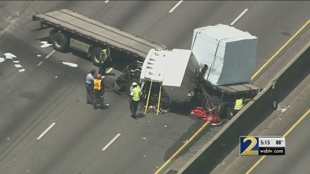 18-wheeler crash involving police SUV causes traffic nightmare along