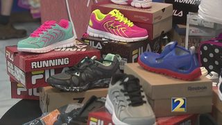 Nonprofit collects shoes for kids in need
