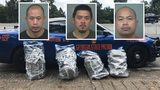 Three men from Charolotte, North Carolina were arrested and charged with trafficking marijuana: Phetprasong Souriyo, 34, Brandy Souriyo, 28, and Somphone Thongkhamdy, 30.