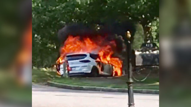 Woman says brand new SUV exploded days after she bought it