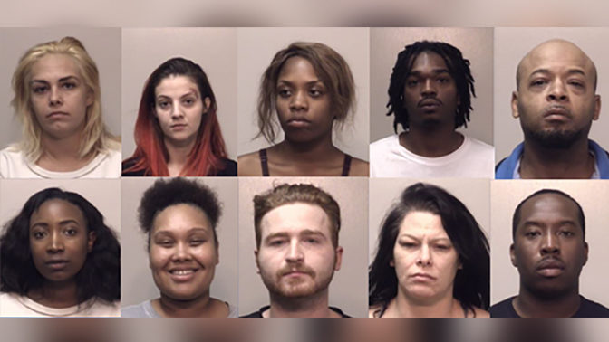 PROSTITUTION BUST GEORGIA: 10 arrested in prostitution bust at metro