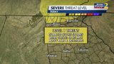Storm risk for Monday afternoon and evening