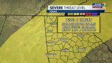 Severe weather risk for Tuesday afternoon and evening