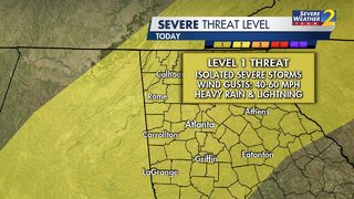Severe thunderstorm warning issued for parts of metro Atlanta