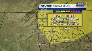 More widespread rain, severe storms possible today