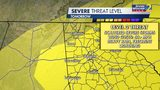 Level 2 (scale 1-5) severe weather risk area for tomorrow has been expanded to include all of metro Atlanta.