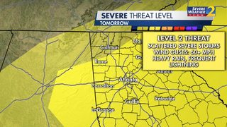 More storms, showers expected across north Georgia Thursday