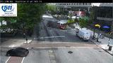 Gas main break on Peachtree Street in Midtown Atlanta