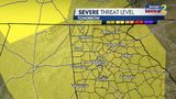 Severe storm risk for Friday afternoon