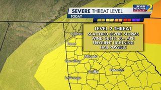 Be prepared: Rain, storms moving through metro Atlanta right now