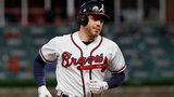 Freddie Freeman rounds third after his solo home run, his 20th of the season, in Tuesday's 10-2 loss to the Mets at SunTrust Park. (Photo by Kevin C. Cox/Getty Images)