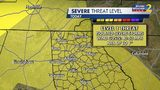 North Georgia is under a Level 1 threat for strong to severe storms Sunday June 23.