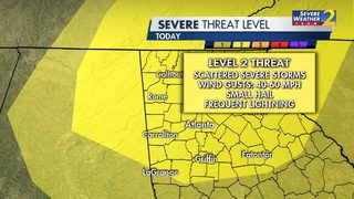 BE PREPARED: Damaging winds, hail and frequent lightning possible with storms