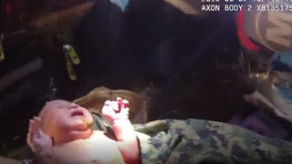 VIDEO: The moment deputies saved newborn wrapped in plastic bag