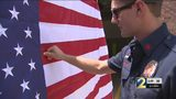 Colorblind firefighter sees American flag for the first time after co-workers buy him special glasses