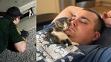 Deputy Bowling and his wife ended up adopting the kitten and named him Rambo.
