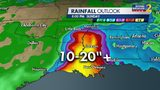 10 to 20 inches of rain expected to fall from Tropical Storm Barry