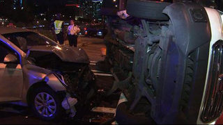 Ambulance involved in rollover crash in Midtown