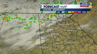 Showers, storms expected in north Georgia; More rain possible later this week