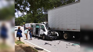 Van carrying adults with special needs crashes into tractor-trailer; 2 dead