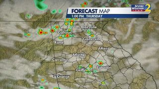 Round 2: More showers, storms possible today