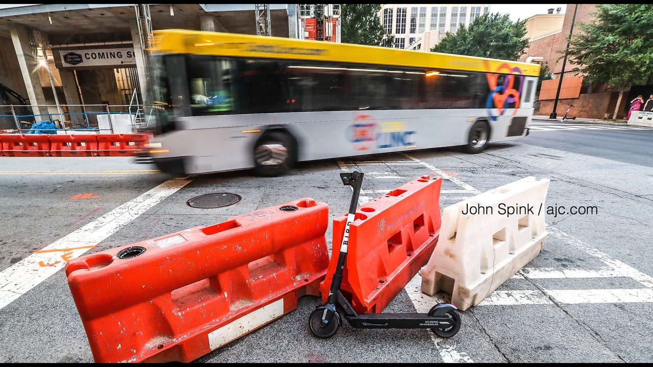SCOOTER DEATH ATLANTA: Scooter rider hit, killed by bus in