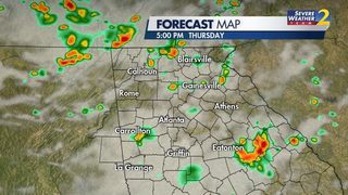 Thunderstorm threat: Downpours, lightning, gusty wind possible today