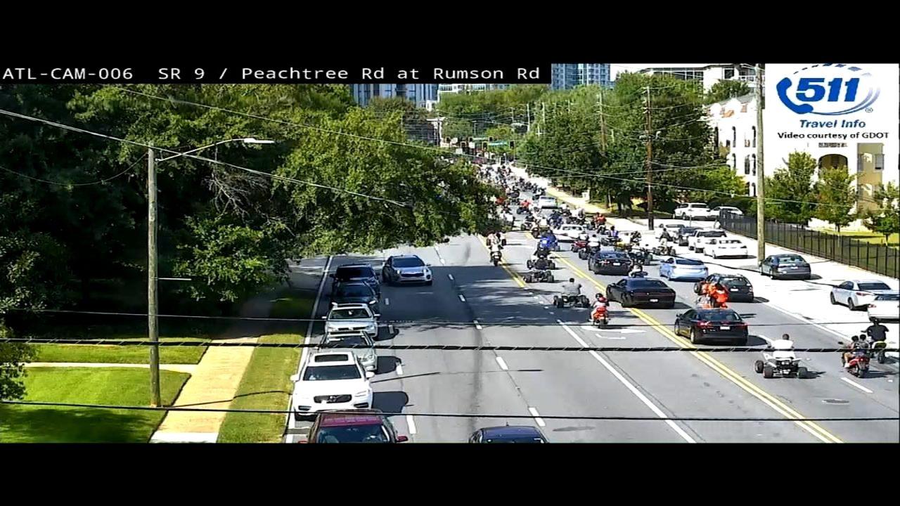 ATV riders swarm busy streets in parts of metro Atlanta